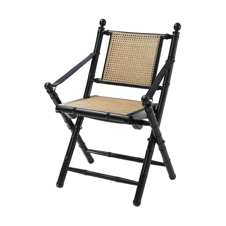 Bamboo Lacquered Folding Chair Folding Chair Chair