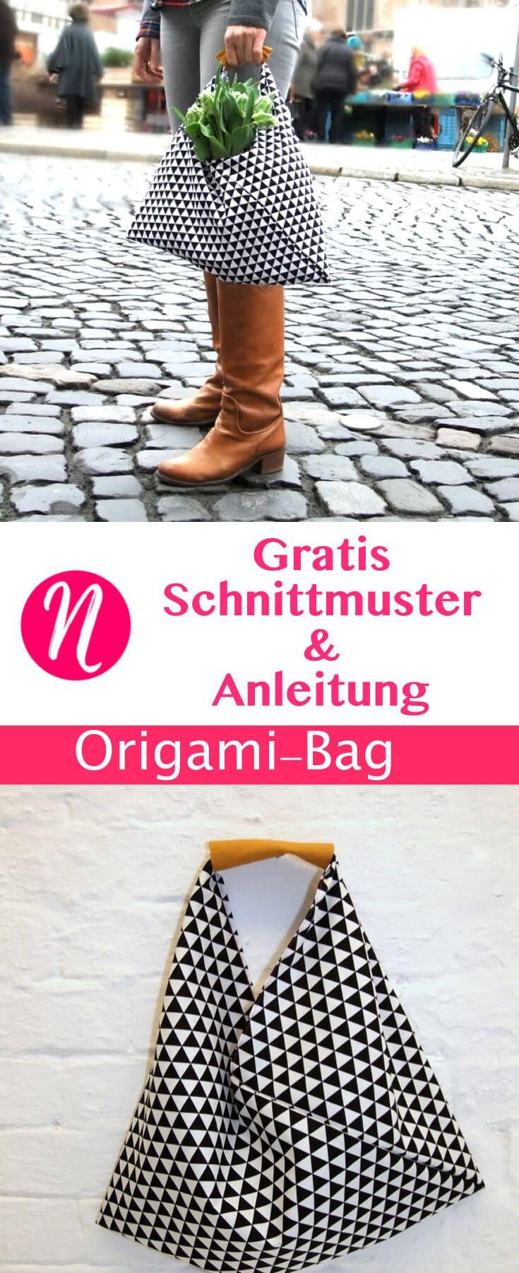 Origami-Bag - genäht in nur 30 Minuten | Origami-tasche, Selber ...