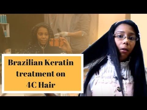 Brazilian Keratin Hair Treatment on 4c hair  in Tokyo - YouTube