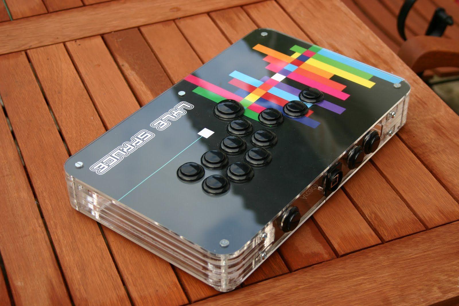 A Super Cool Mario Arcade Stick Mod Team Hyperstick T