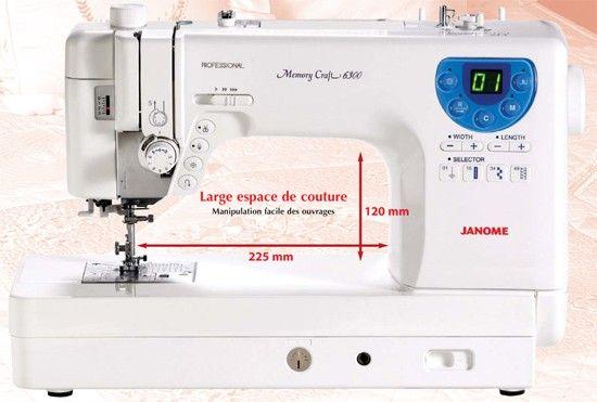 Machine coudre janome memory craft 6300 machine - Machine a coudre janome 8077 ...