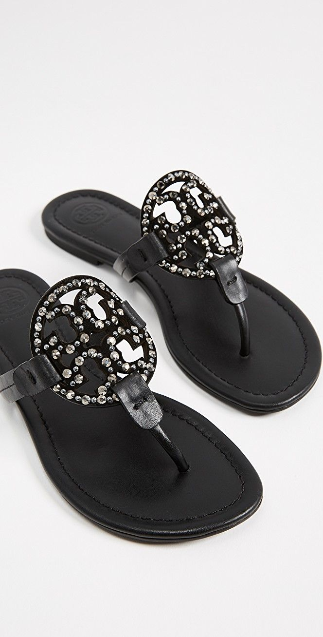 b4a6973545849 Tory Burch Miller Embellished Sandals
