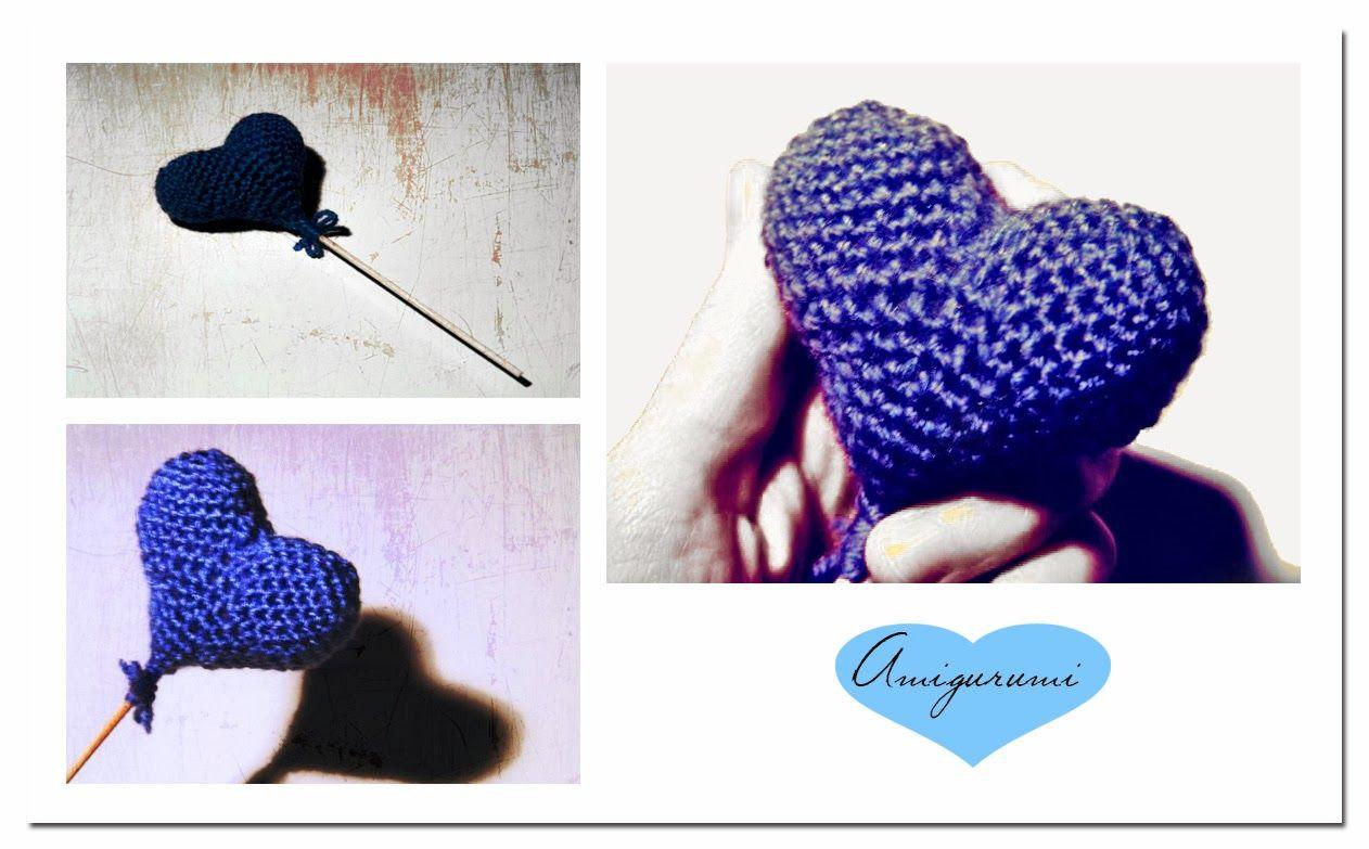 Corazón Amigurumi ~ Patrón Gratis en Español  http://lesantoniesblog.blogspot.com.es/2014/02/cor-damigurumi-el-blau-es-nostre-color.html