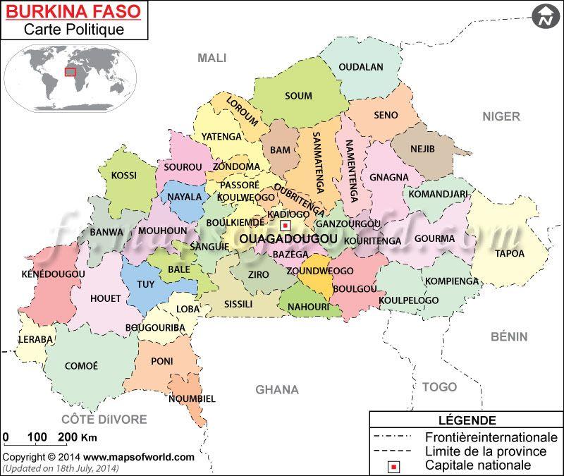 Carte Du Burkina Faso Map Of Burkina Faso Mapsinfrench