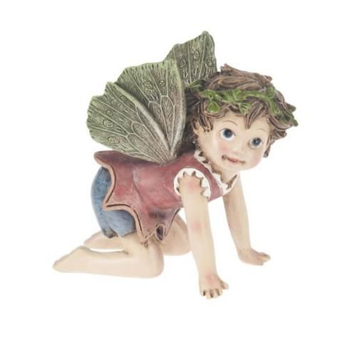 Fairy with Green Wings. www.teeliesfairygarden.com . . . One of the most amazing things to view in the fairy gardens is the fast developing relationship between a baby and a butterfly. Look, even the Fairy with Butterfly clothes go beautifully with his wings. We apparently have a future animal fairy in training. #babyfairy