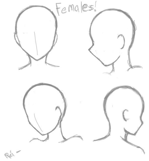 16 Anime Poses Female Face In 2020 Anime Drawings Sketches Drawing Heads Anime Drawings Tutorials