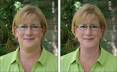 photoshop double menton