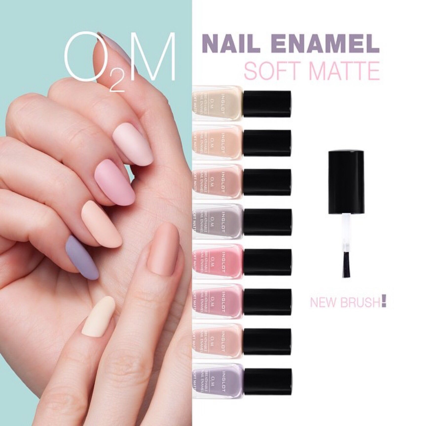 Inglot O2M soft matte | French Manicures | Pinterest | Pedi ...