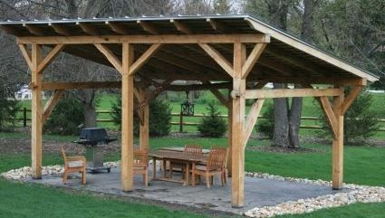 Simple Covered Outdoor Pavilion Diy In 2019 Outdoor