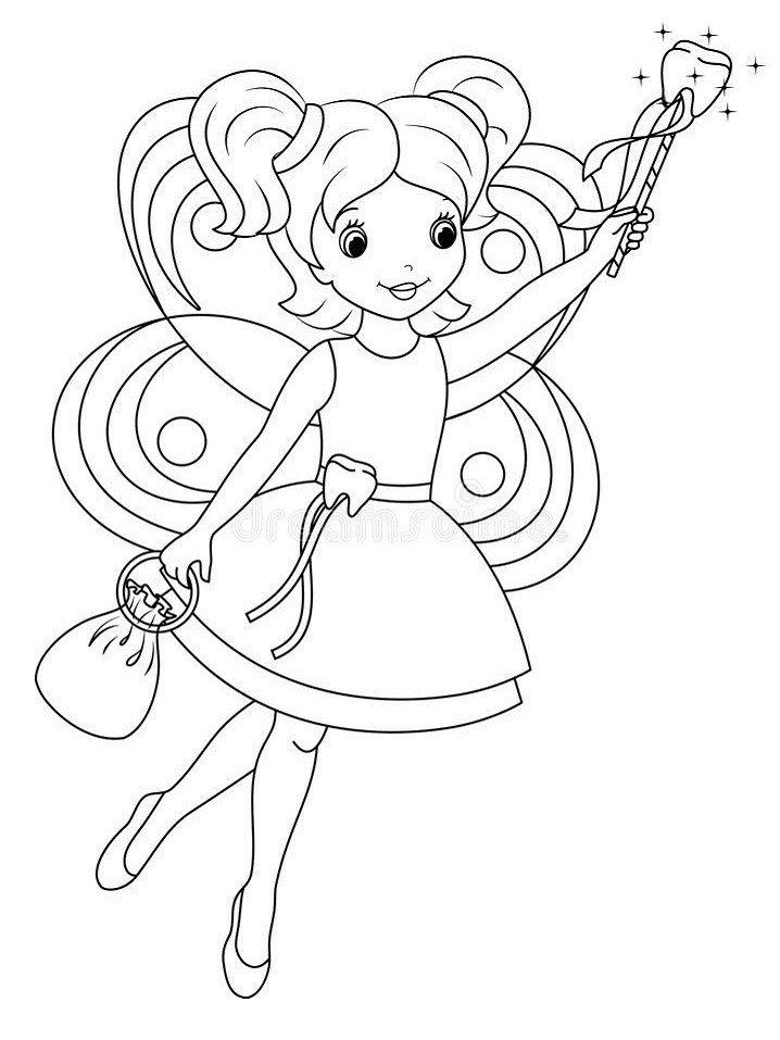 Tooth Fairy Coloring Pictures tooth Fairy Coloring Page