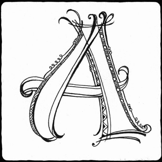 ABOGADA   Letras Zentangle   Pinterest