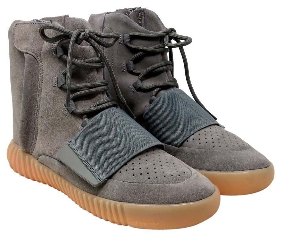 Adidas Yeezy Boost 750 Light Glow In The Dark Suede Bb1840 Grey Gum  Athletic Shoes 8c0312c77