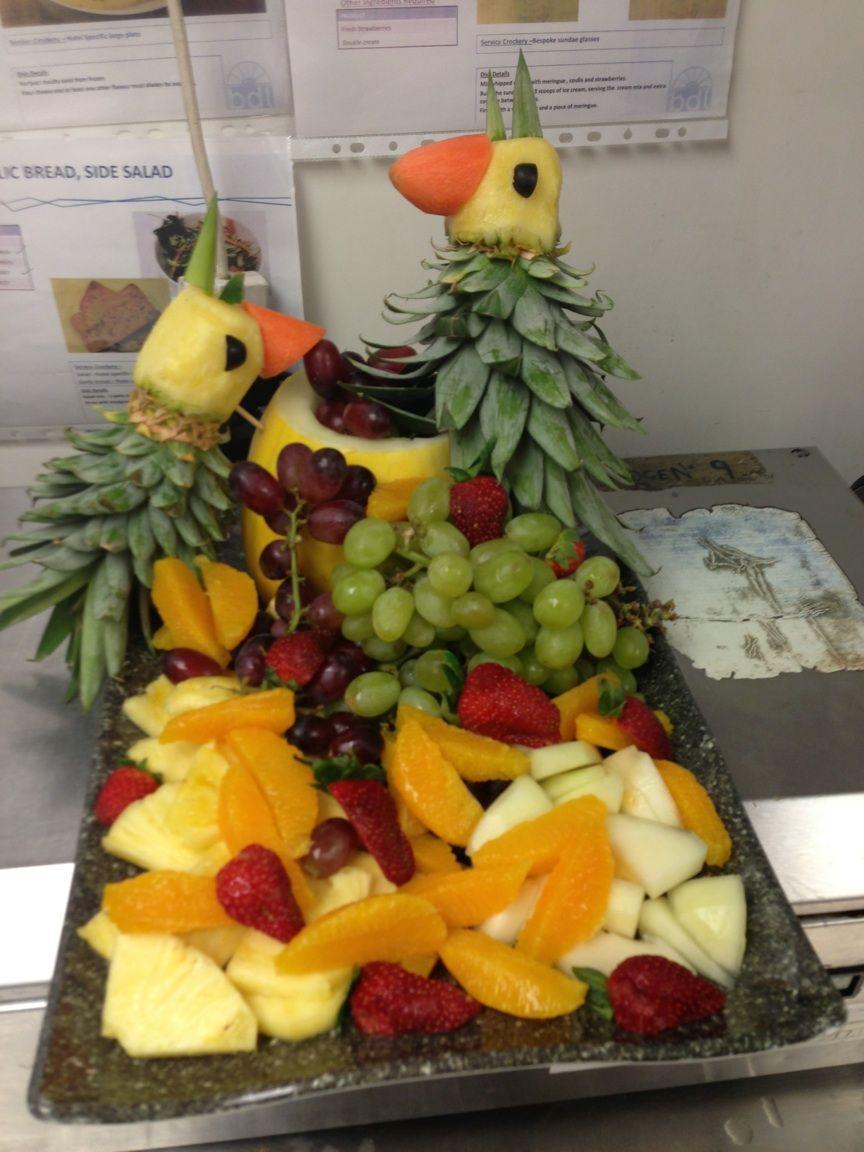 Carved fruit platter carving design ramada