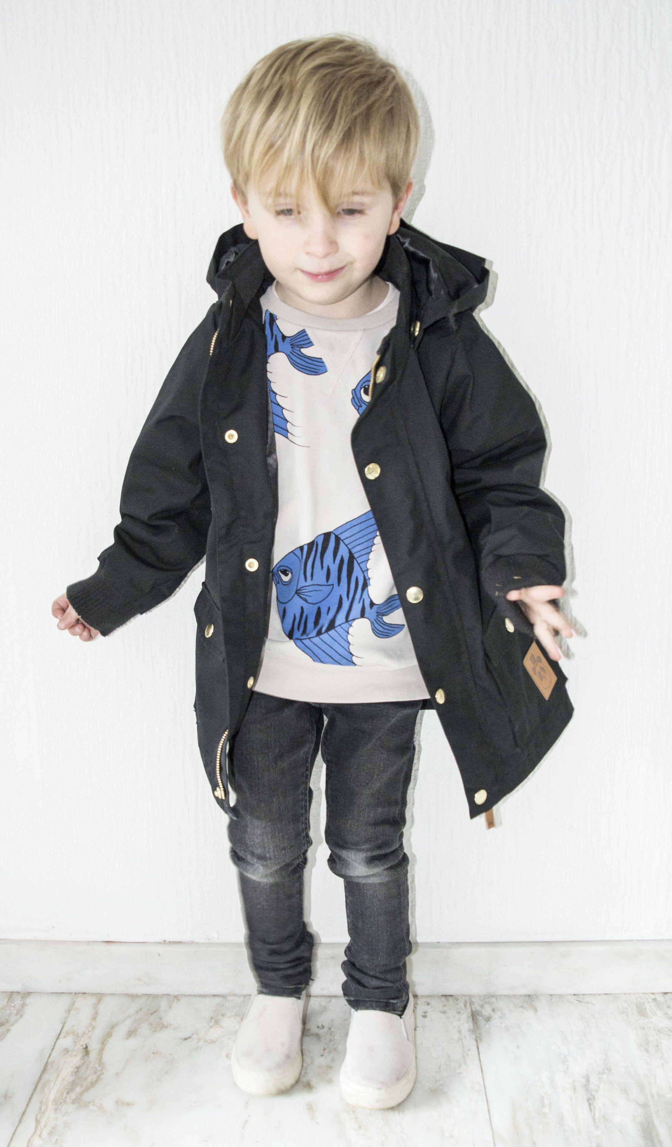 805fe96f848f by M for Magazine Look 4  Black Mini Rodini Pico Jacket from Orange ...