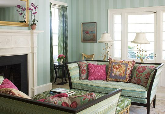 Elegant green is set off by whimsical patterns and playful ...