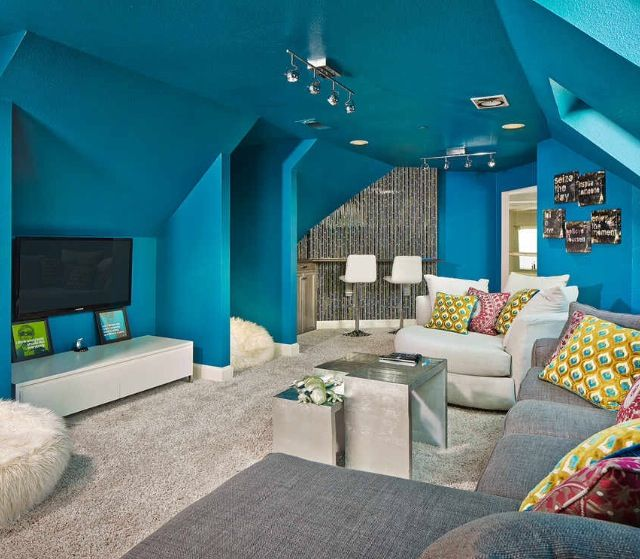 Fun Basement idea   Hangout room, Awesome bedrooms, Blue rooms on Teenager Basement Bedroom  id=90035