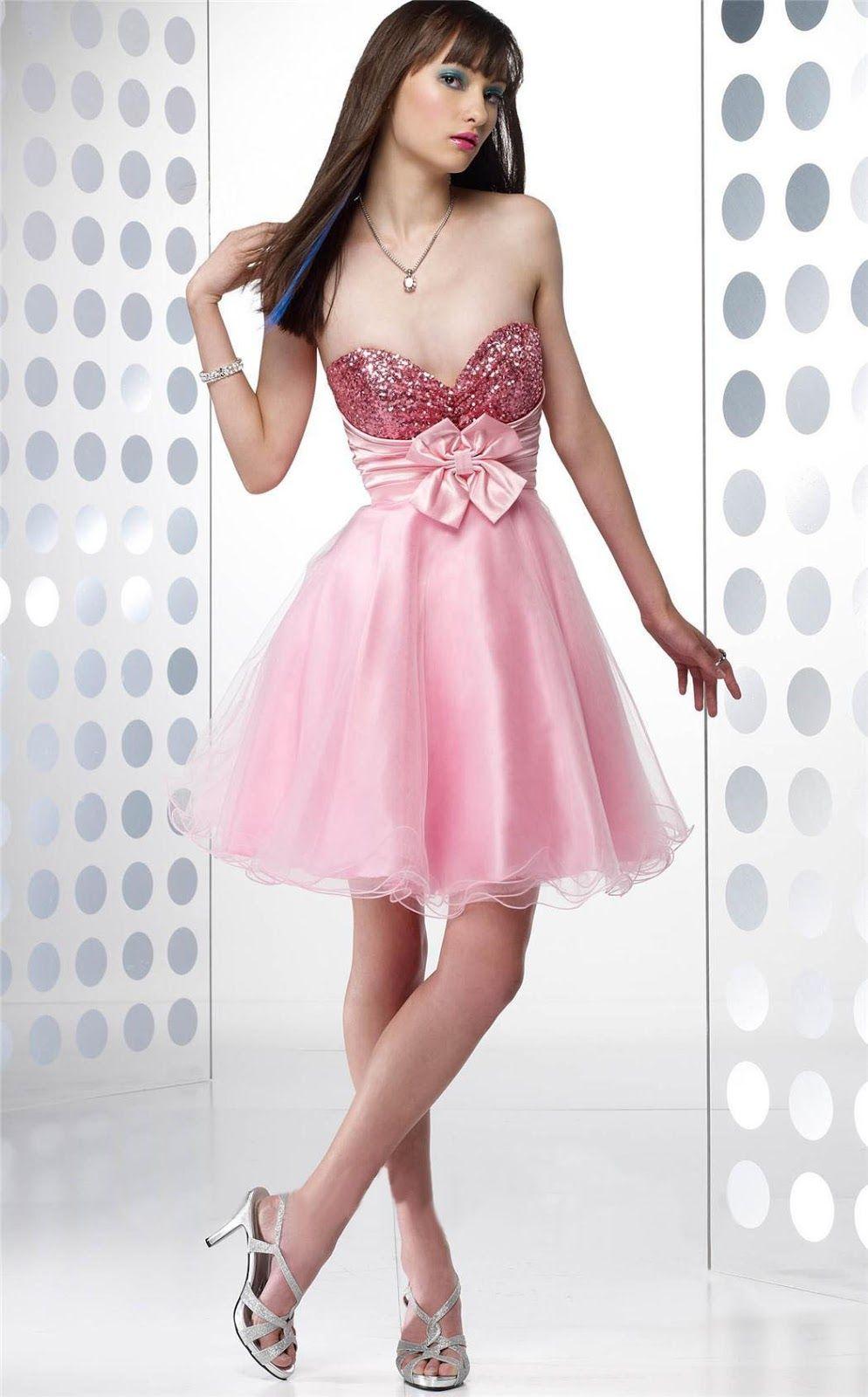 Increíble Calientes Vestidos De Fiesta De Color Rosa Con Diamantes ...