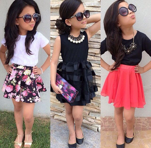 Little girl fashion, Kids outfits