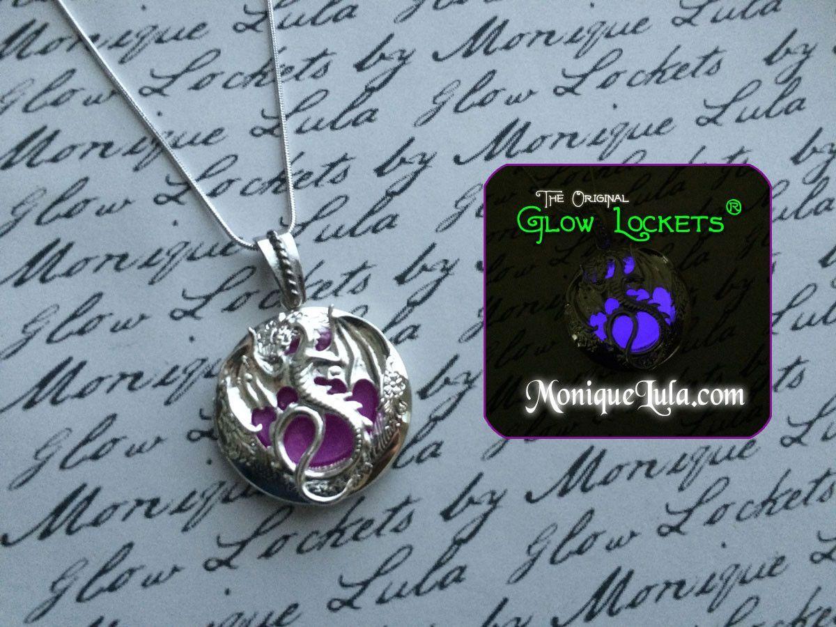 Glow in the Dark Art Dragon Heart Brillant Collier Pendentif DRAGON Collier