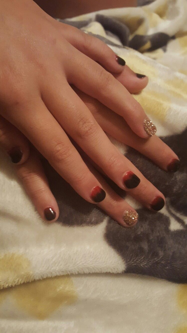 Ombre nails with dip powder. Revel Mia D55, Marilyn D49, and Anc 33 ...
