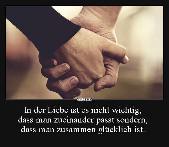 In der Liebe ist es nicht wichtig, dass man zueinander
