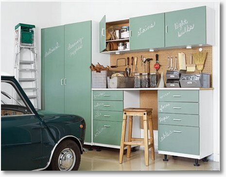 Garage Redo   Add Chalkboard Paint To Ikea Utility Cabinets. #ikeahackers