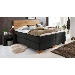 Box spring bed Peachland, 160×200 cm, black MaintalMaintal