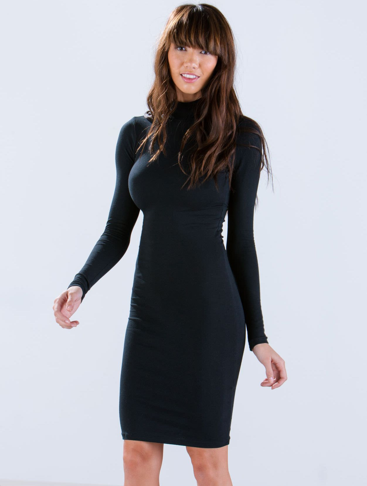 Vestido gasa manga larga-negro 14.44   For My !!   Pinterest