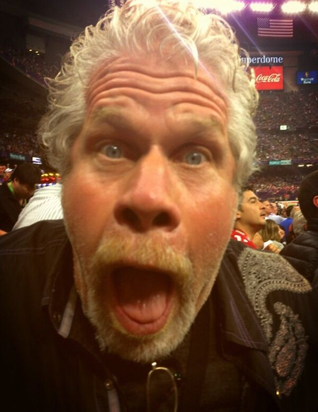 Ron Pearlman At The Superbowl 2013 Sons Of Anarchy Sons Of Anarchy Famous Faces Anarchy