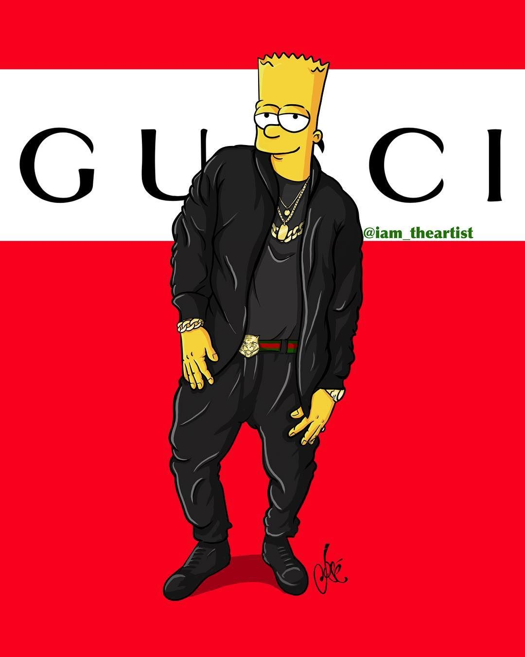 Goonzart On Instagram Bart Simpson Thesimpsons Gucci Elalfaeljefe Apple Bartsimpson Bart Ipadpro Ipadart Nike Ni In 2020 Bart Simpson Art Bart Bart Simpson