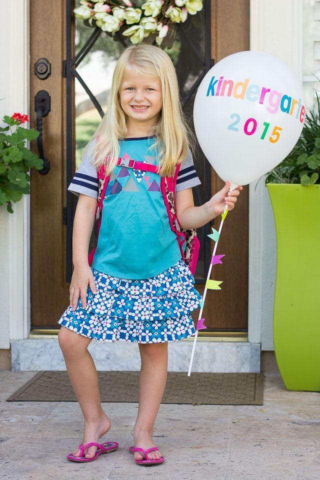 First Day of School Balloons #firstdayofschooloutfits