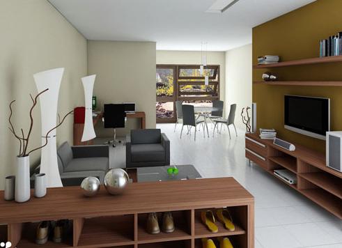 Interior Ruang Keluarga Rumah Type