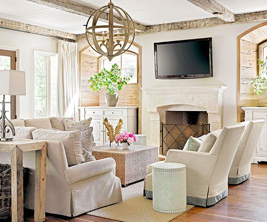 Cottage Living Room With Fireplace fireplace styles and design ideas | living rooms, room and linen