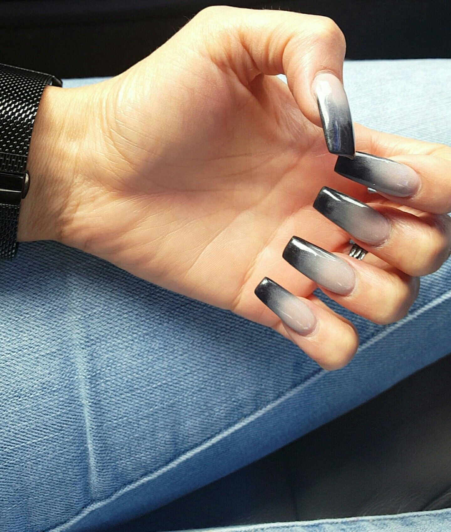 Black Ombre Nails Black Ombre Nails Ombre Nail Designs Ombre Nails