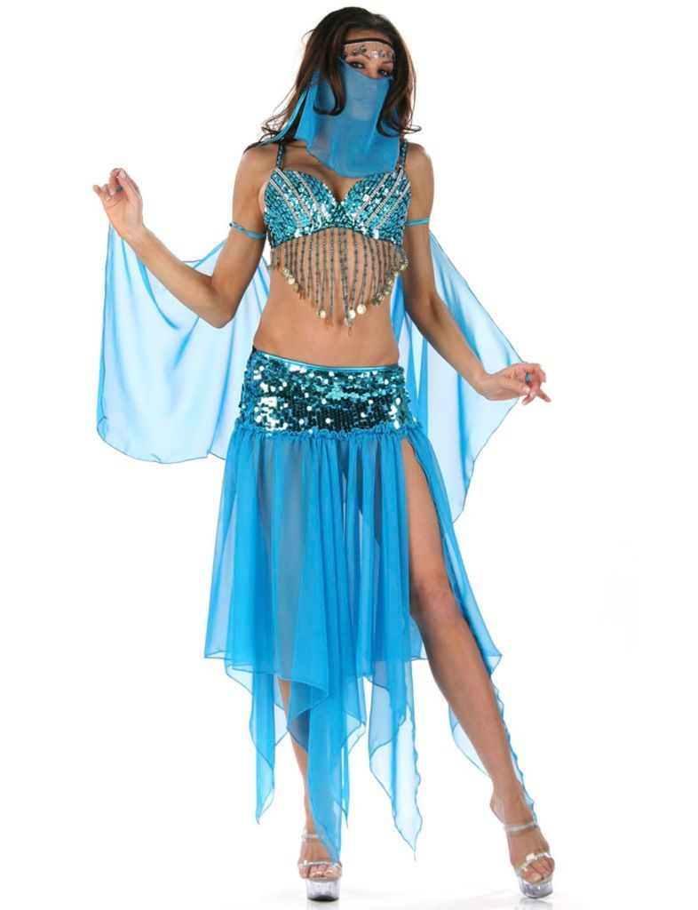 BELLY DANCE WOMEN LADIES FANCY DRESS PARTY ROLE PLAY FOR HALLOWEEN ...