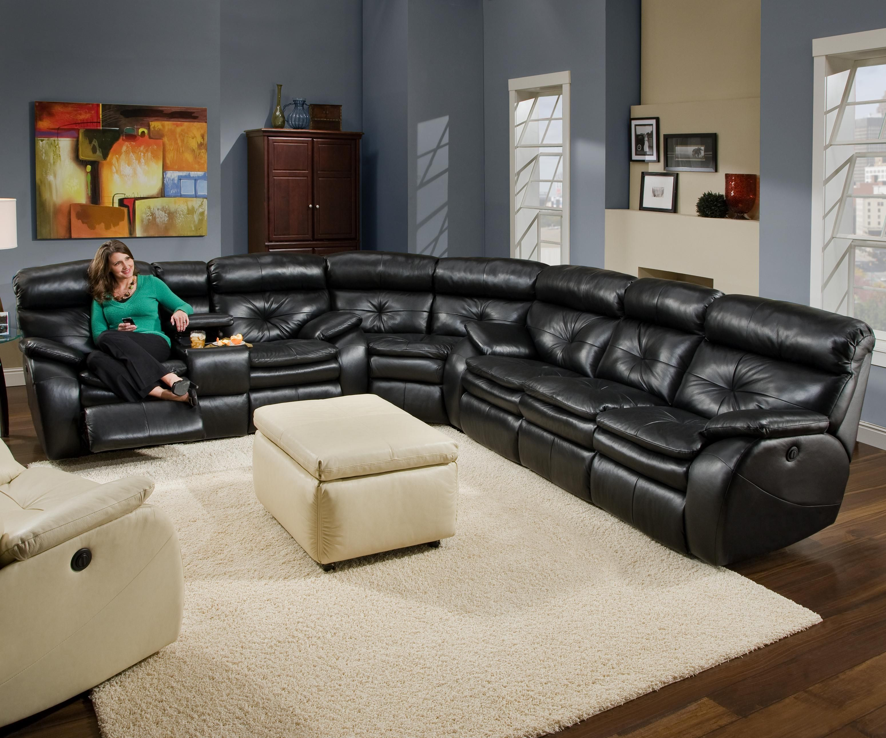Jitterbug reclining sofa sectional part of the jitterbug collection by southern motion