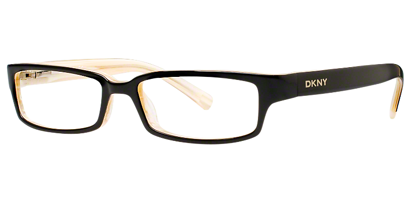 These DKNY® glasses feature traditional colors and rectangular ...
