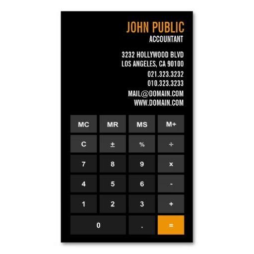 Accountant Calculator Financial Advisor Business Card It is - time card calculator