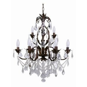 Roxy Lighting Heritage 9 Light Crystal Light Chandelier-DISCONTINUED-88054/9 at The  sc 1 st  Pinterest & Roxy Lighting Heritage 9 Light Crystal Light Chandelier ... azcodes.com