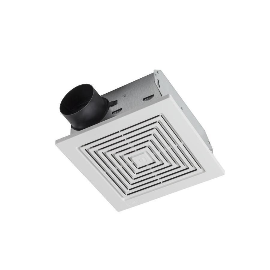 Broan 3 5 Sone 50 Cfm White Bathroom Fan Bathroom Bathroom Exhaust Fan Frameless Shower Doors Shower Doors
