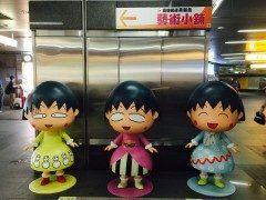 高雄の美麗島駅にたくさんのちびまる子ちゃんが居ましたo ショップもあったので人気なんですかねー  #台湾 #高雄 #美麗島駅   #乗り換え tags[海外]