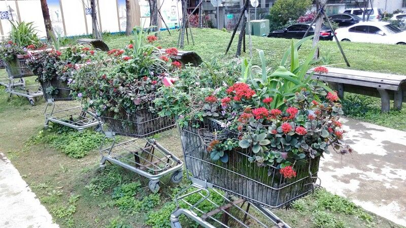 Great upcycling idea for your garden. Use old grocery carts as a ...