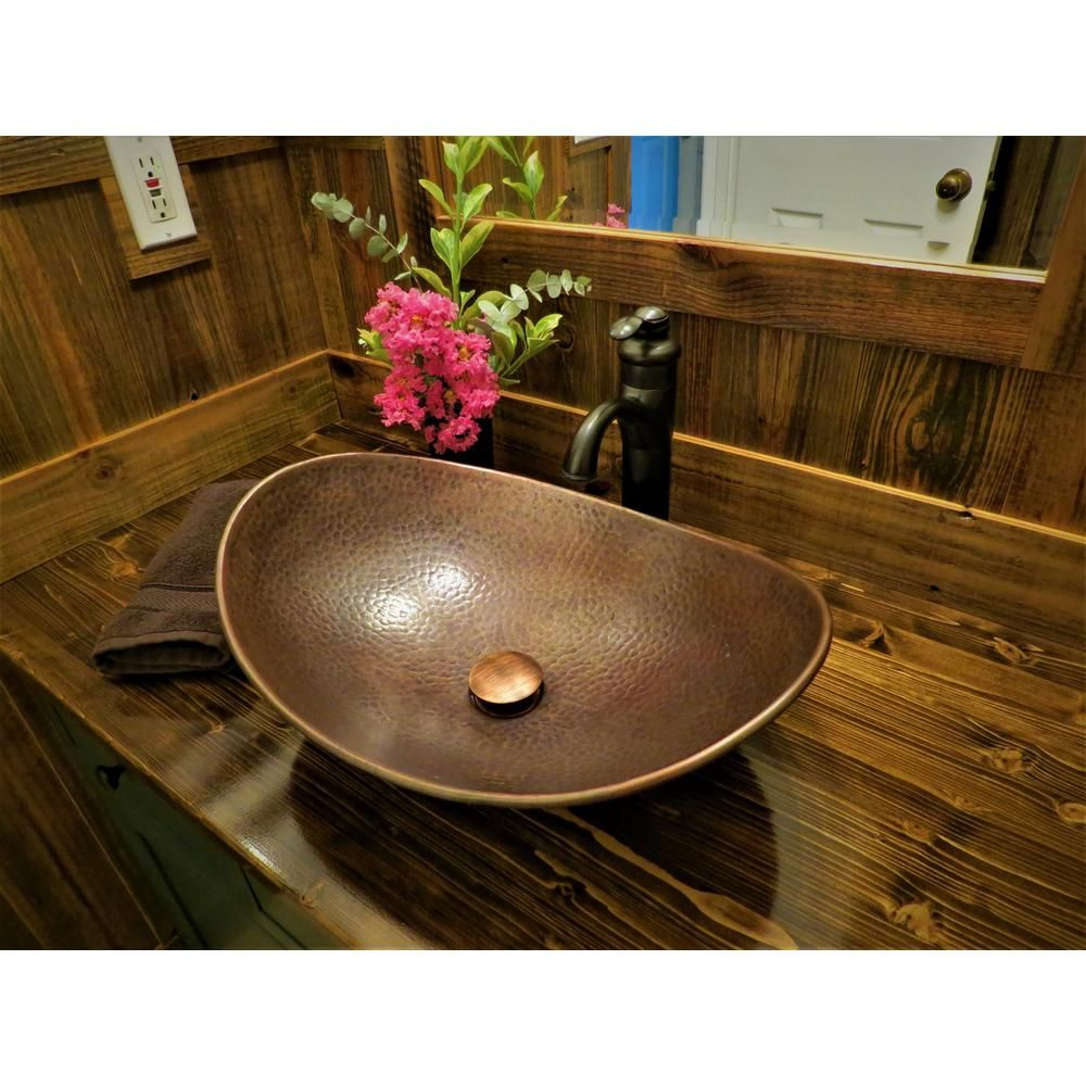 Sinkology Confucius Above Counter Copper Vessel Sink Handmade Pure
