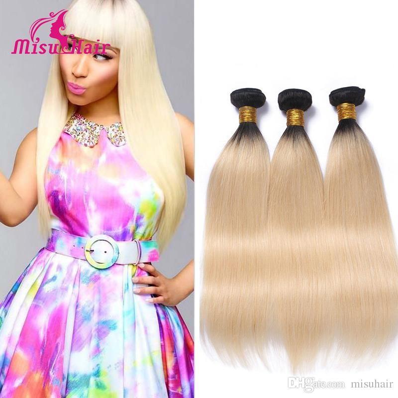Omre 613 100gpc Light Blonde Human Remy Hair Straight 3 Bundles