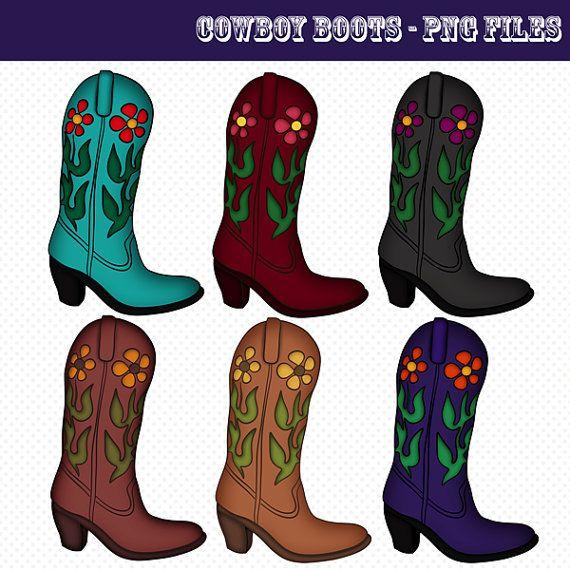 Cowboy Boots Clip Art Cowboy Boots Graphics Png Files Etsy Boot Clips Cowboy Boots Cute Clipart