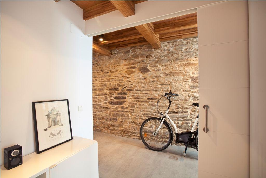 Rehabilitacion casa santiago muro de piedra mamposteria - Piedra de interior ...