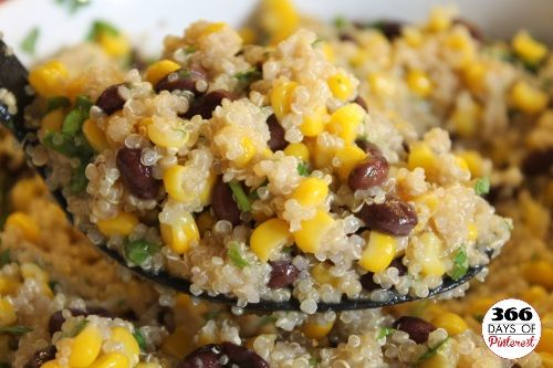 Southwest Quinoa Salad.... I didnt put Cumin in.. I used everyday seasoning from Tjs and celery salt.