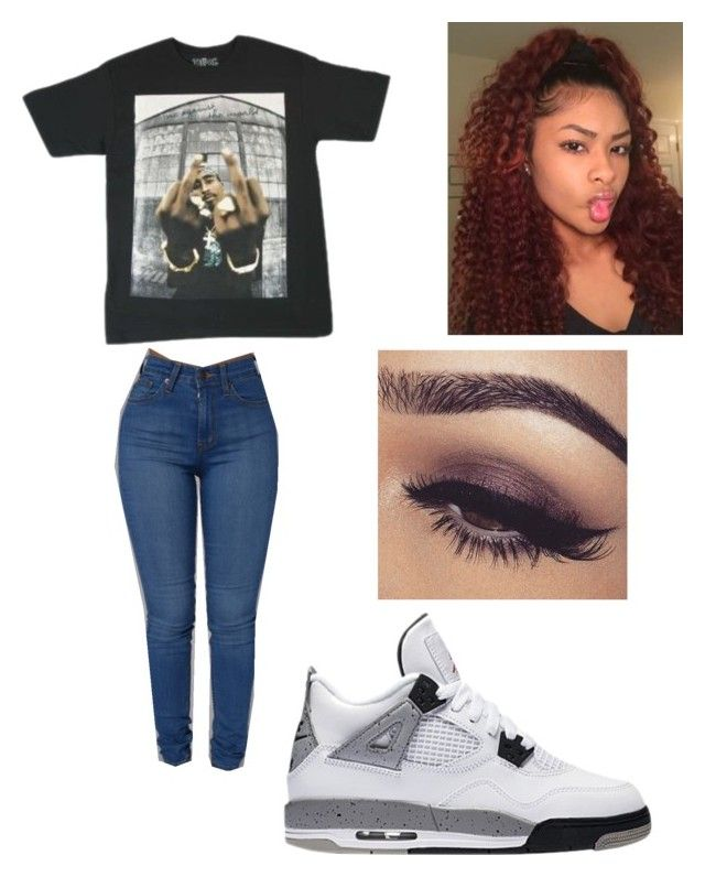 """""""Tupac is my favorite 😍"""" by brejeasmith ❤ liked on Polyvore"""
