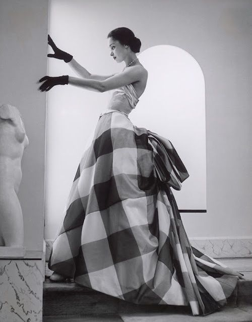 Evening wear by Pierre Balmain, Summer 1952.