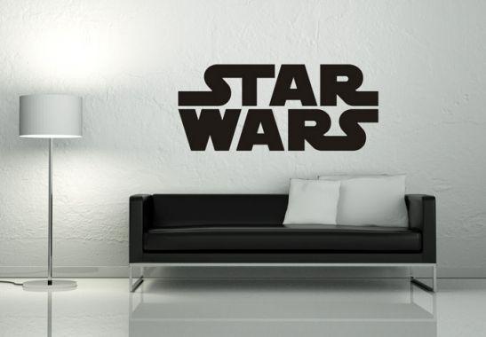 Wandtattoo wandtattoo star wars logo schwarz wg for Kinderzimmer star wars gestalten